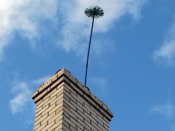 Chimney sweep brush